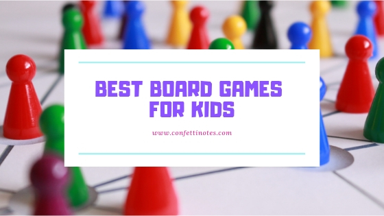 board games for kids on a desk